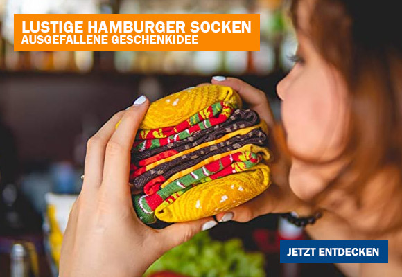 Lustige Hamburger Socken Box