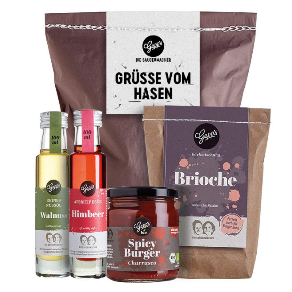 """Feinkost Geschenkpaket zu Ostern """"Grüße vom Hasen"""""""