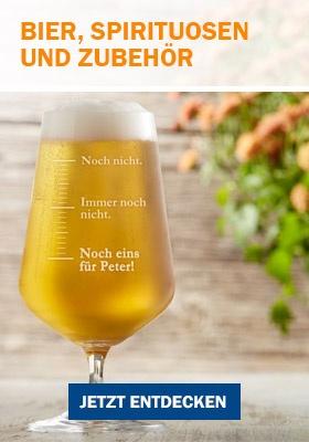 Bier, Spirituosen & Zubehör als Geschenk