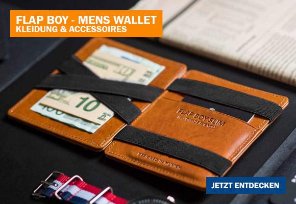 Stylische Leder-Geldbörse für Männer