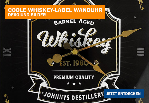Whiskey-Label Wannduhr als individuelle Geschenkidee