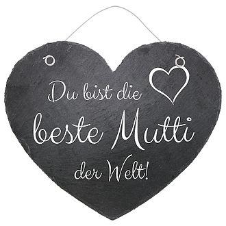 "aSchieferherz ""Beste Mama der Welt"""